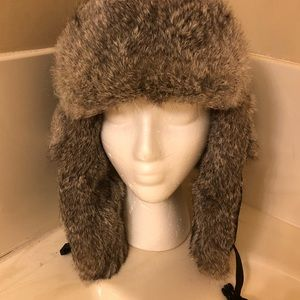 Mad Bomber Accessories - Black Mad Bomber Hat Rabbit Fur Lined